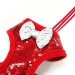 View Image 2 of EasyGo Sequins Dog Harness by Dogo - Red