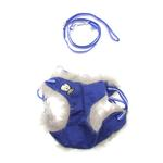 View Image 1 of EasyGO Winter Skull Dog Harness by Dogo - Blue