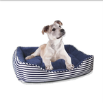 View Image 1 of Ahoy Striped Dog Bed - Blue