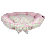 View Image 1 of Parisian Pet Pinkberry Plaid Dog Bed