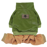 View Image 1 of Bomber with Corduroy Pants Dog Jumpsuit - Green
