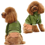 View Image 2 of Bomber with Corduroy Pants Dog Jumpsuit - Green
