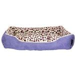 View Image 1 of Parisian Pet Safari Lounger Dog Bed - Purple