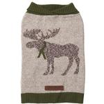 View Image 1 of Eddie Bauer Heathered Woodland Dog Sweater - Moose