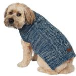 View Image 4 of Eddie Bauer Marled Cable Knit Dog Sweater - Nordic/Light Gray