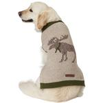 View Image 4 of Eddie Bauer Heathered Woodland Dog Sweater - Moose