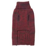 View Image 2 of Eddie Bauer Marled Cable Knit Dog Sweater - Brick/Carbon