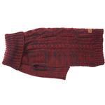 View Image 3 of Eddie Bauer Marled Cable Knit Dog Sweater - Brick/Carbon