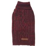 View Image 1 of Eddie Bauer Marled Cable Knit Dog Sweater - Brick/Carbon