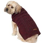 View Image 4 of Eddie Bauer Marled Cable Knit Dog Sweater - Brick/Carbon