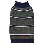 View Image 1 of Eddie Bauer Marled Striped Dog Sweater - Dark Thyme/Medium Indigo