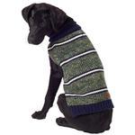 View Image 4 of Eddie Bauer Marled Striped Dog Sweater - Green/Navy