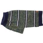 View Image 3 of Eddie Bauer Marled Striped Dog Sweater - Dark Thyme/Medium Indigo