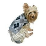 View Image 1 of Edinborough Arygyle Mock Turtleneck Dog Sweater - Grey