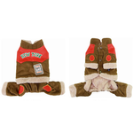 View Image 1 of Corduroy Dog Jumpsuit - Camel
