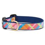 View Image 1 of Pink Madras Dog Collar by Up Country
