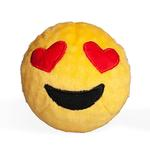 View Image 1 of Emoji Faballs Dog Toy - Heart Eyes Love