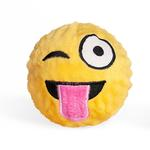 View Image 1 of Emoji Faballs Dog Toy - Tongue Out Winking