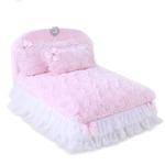 View Image 1 of Enchanted Nights Luxury Dog Bed by Hello Doggie - Baby Doll Pink