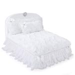 View Image 1 of Enchanted Nights Luxury Dog Bed by Hello Doggie - Snow White