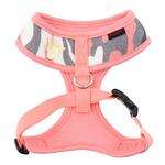 View Image 2 of Ensign Camo Basic Style Dog Harness by Puppia - Pink