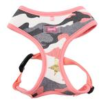 View Image 1 of Ensign Camo Basic Style Dog Harness by Puppia - Pink