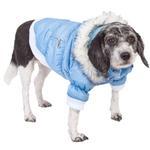View Image 1 of Pet Life Metallic Ski Parka Dog Coat - Blue