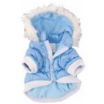 View Image 5 of Pet Life Metallic Ski Parka Dog Coat - Blue