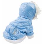 View Image 3 of Pet Life Metallic Ski Parka Dog Coat - Blue