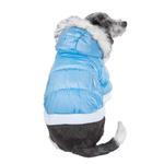 View Image 2 of Pet Life Metallic Ski Parka Dog Coat - Blue