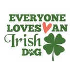 View Image 2 of Everyone Loves an Irish Dog Shirt - White