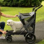 View Image 3 of Excursion No-Zip Pet Stroller - Dark Platinum