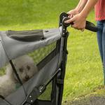 View Image 4 of Excursion No-Zip Pet Stroller - Dark Platinum
