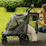 View Image 2 of Excursion No-Zip Pet Stroller - Dark Platinum