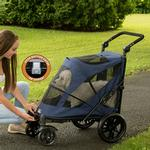 View Image 2 of Excursion No-Zip Pet Stroller - Midnight Blue