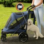 View Image 3 of Excursion No-Zip Pet Stroller - Midnight Blue