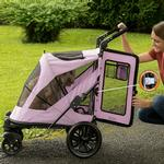 View Image 2 of Excursion No-Zip Pet Stroller - Mountain Lilac