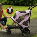 View Image 3 of Excursion No-Zip Pet Stroller - Mountain Lilac