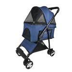 View Image 1 of Executive Dog Stroller with Removable Cradle by Dogline - Blue