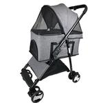 View Image 1 of Executive Dog Stroller with Removable Cradle by Dogline - Gray