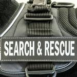 View Image 1 of EzyDog Custom Side Patches for Convert Harness - Search & Rescue