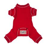 View Image 1 of fabdog® Thermal Dog Pajamas - Red