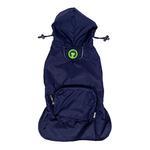 View Image 1 of fabdog® Pocket Fold Up Dog Raincoat - Navy