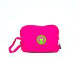View Image 2 of fabdog® Pocket Fold Up Dog Raincoat - Hot Pink