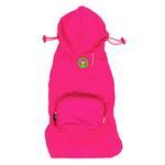 View Image 1 of fabdog® Pocket Fold Up Dog Raincoat - Hot Pink