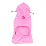 View Image 1 of fabdog® Pocket Fold Up Dog Raincoat - Light Pink