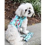 View Image 3 of Fabric Dog Harness with Leash by Doggie Design - Surfboards and Palms