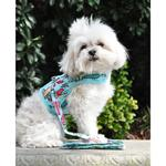 View Image 4 of Fabric Dog Harness with Leash by Doggie Design - Surfboards and Palms