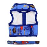 View Image 2 of Fabric Dog Harness with Leash by Doggie Design - Ukuleles and Surfboards
