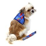View Image 3 of Fabric Dog Harness with Leash by Doggie Design - Ukuleles and Surfboards